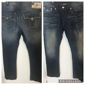 TRUE RELIGION Straight Jeans Men's Size 40X33 Blue